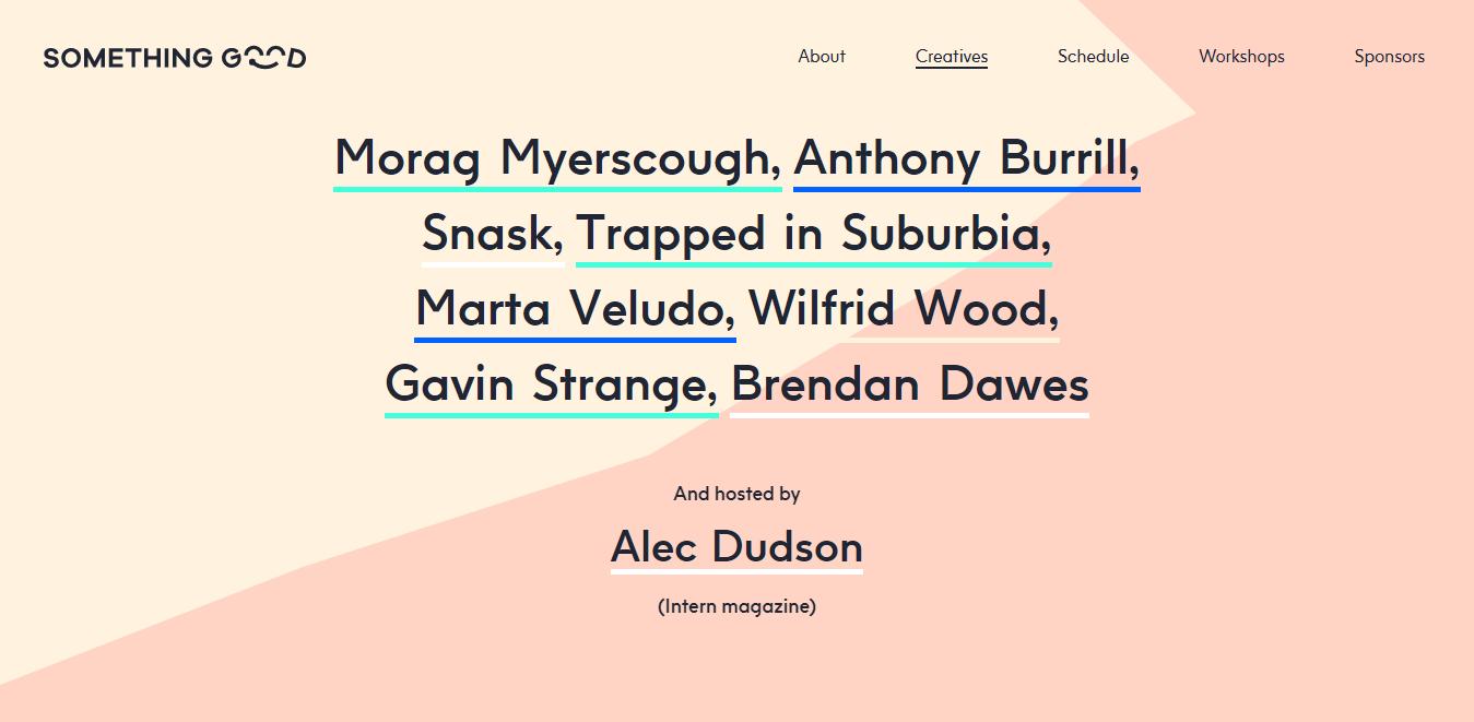 ejemplo de tipografia resaltada con colores